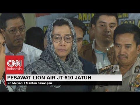 Tangis Sri Mulyani untuk Korban Jatuhnya Pesawat Lion Air JT-610