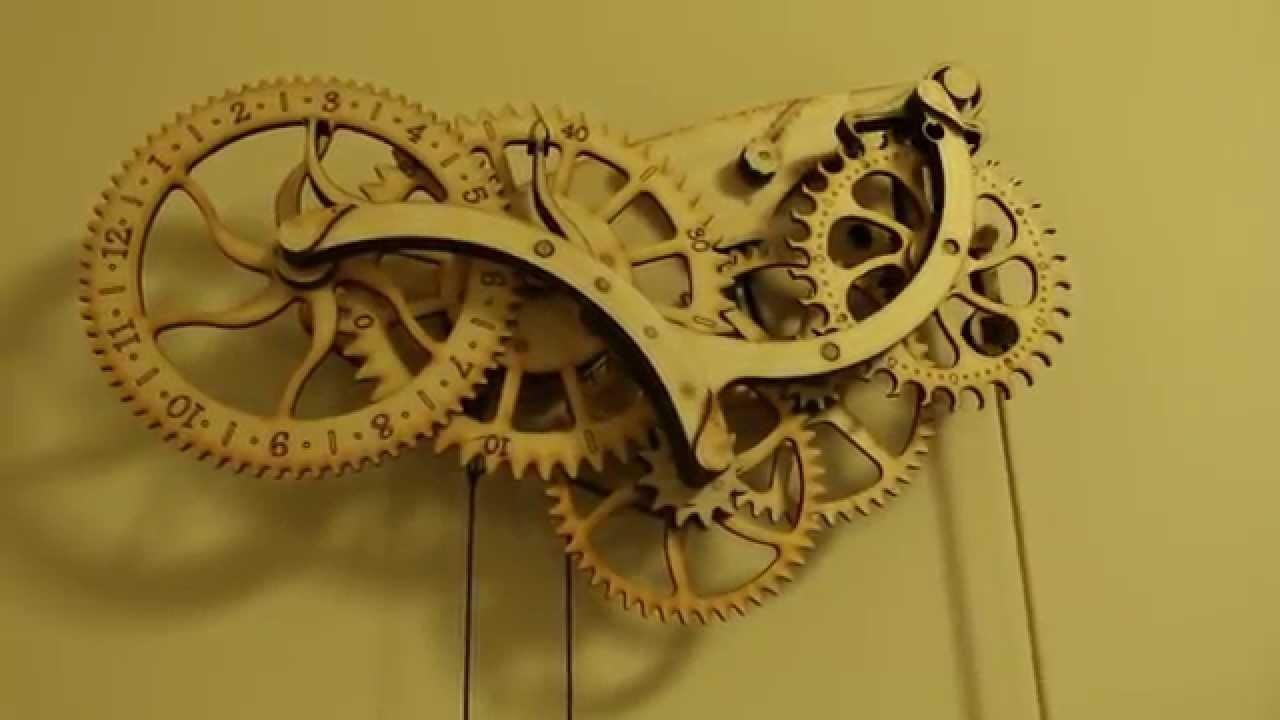 ThinkGeek Wooden Clock Demo