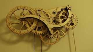 Thinkgeek Wooden Clock Demo