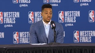 CJ McCollum postgame reaction | Warriors vs Blazers Game 4 | 2019 NBA Playoffs