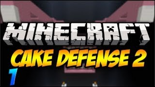 Minecraft: Cake Defense 2 Solo Part 1 - BRING IT!