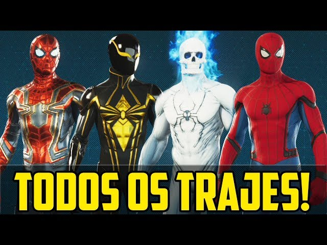 MARVEL'S SPIDER-MAN PS4 - TODAS AS ROUPAS!