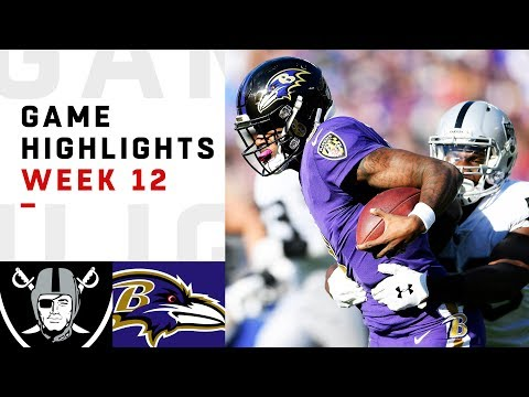 Raiders vs. Ravens Week 12 Highlights | NFL 2018