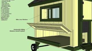 T200 - Chicken Coop Tractor Plans -  How To Build A Chicken Coop