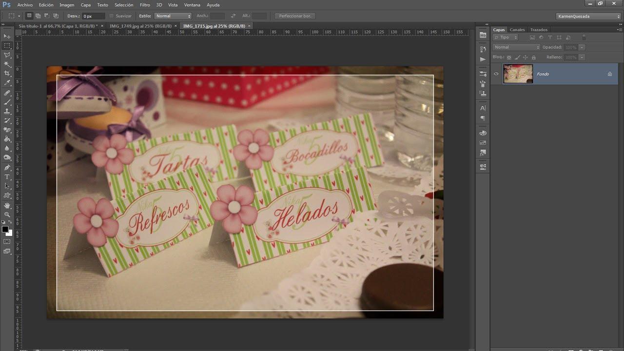 Tutorial Photoshop: Diseñando etiquetas de Menú para mesas de fiesta ...