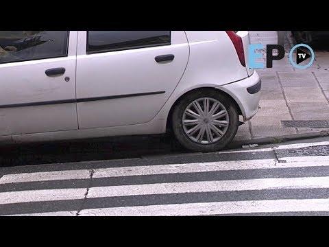 Un día cualquiera en Lugo: los coches invaden las aceras