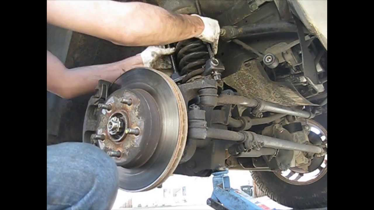 "2000 Ford F350 Front Axle Diagram >> 2000 Jeep Grand Cherokee WJ 2"" Budget Boost lift front - YouTube"