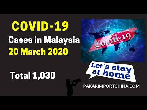 Covid 19 Cases in Malaysia 20 March 2020 Total 1,030