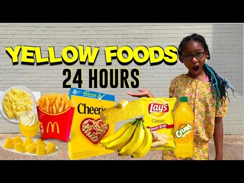 I Only Ate YELLOW FOODS For 24 Hours Challenge