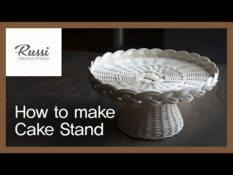 라탄 케익스탠드 만들기[라탄공예] 취미 수업 온라인클래스 10. /Rattan Craft : Rattan CakeStand Tray,かご,라탄 채반,DIY