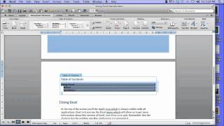 This video is not available. Create a Table of Contents in Word 2011 for Mac