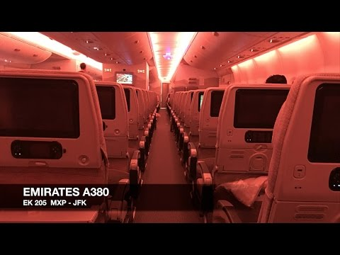 TRIP REPORT | Emirates A380 | Milan MXP ✈ New York JFK | Economy Class