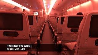 TRIP REPORT | Emirates A380 | Milan MXP ✈ New York JFK | Economy Class