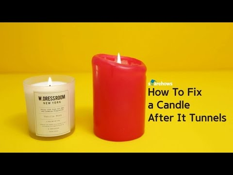 How To Fix a Candle After It Tunnels