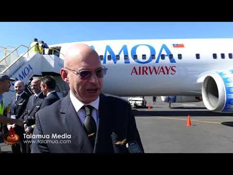 Samoa Airways Touch Down at Faleolo Airport