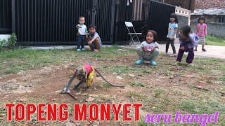 Senangnya Kenzo Menonton Pertunjukkan Rakyat Kesenian Topeng Monyet