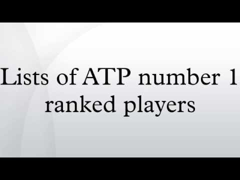 Lists of ATP number 1 ranked players