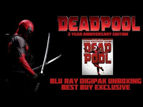 DEADPOOL (2 YEAR ANNIVERSARY - BEST BUY EXCLUSIVE) DIGIPAK BLURAY UNBOXING!!