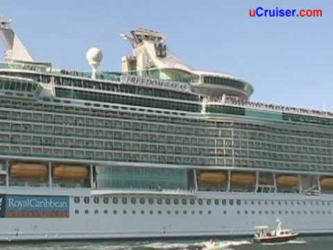 Freedom Of The Seas Cruise Ship YouTube - Port or starboard side of cruise ship