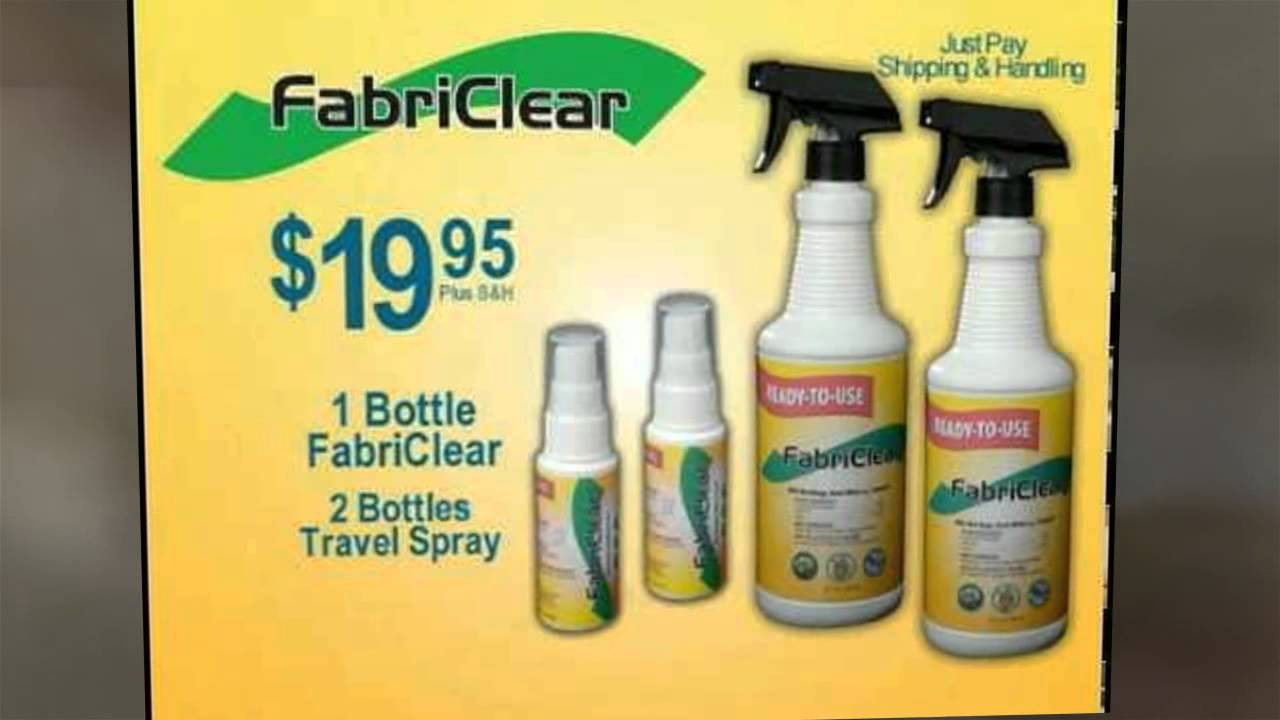 best bedbug spray- a fabriclear review - youtube