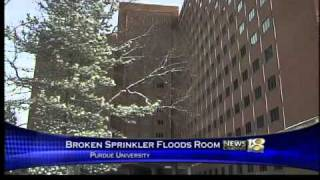 Student Breaks Sprinkler With Hanger, Floods Dorm Room
