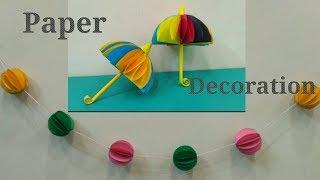 Paper Decoration    Paper Ball Chain    Paper Umbrella
