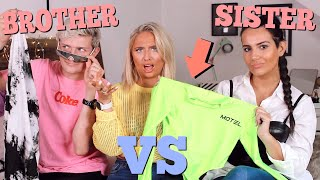 BROTHER VS SISTER chooses my festival outfits challenge!! ad