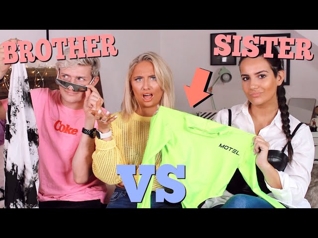 Ad BROTHER VS SISTER chooses my festival outfits challenge!!