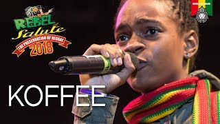 KOFFEE Introduced by Cocoa Tea at Rebel Salute 2018