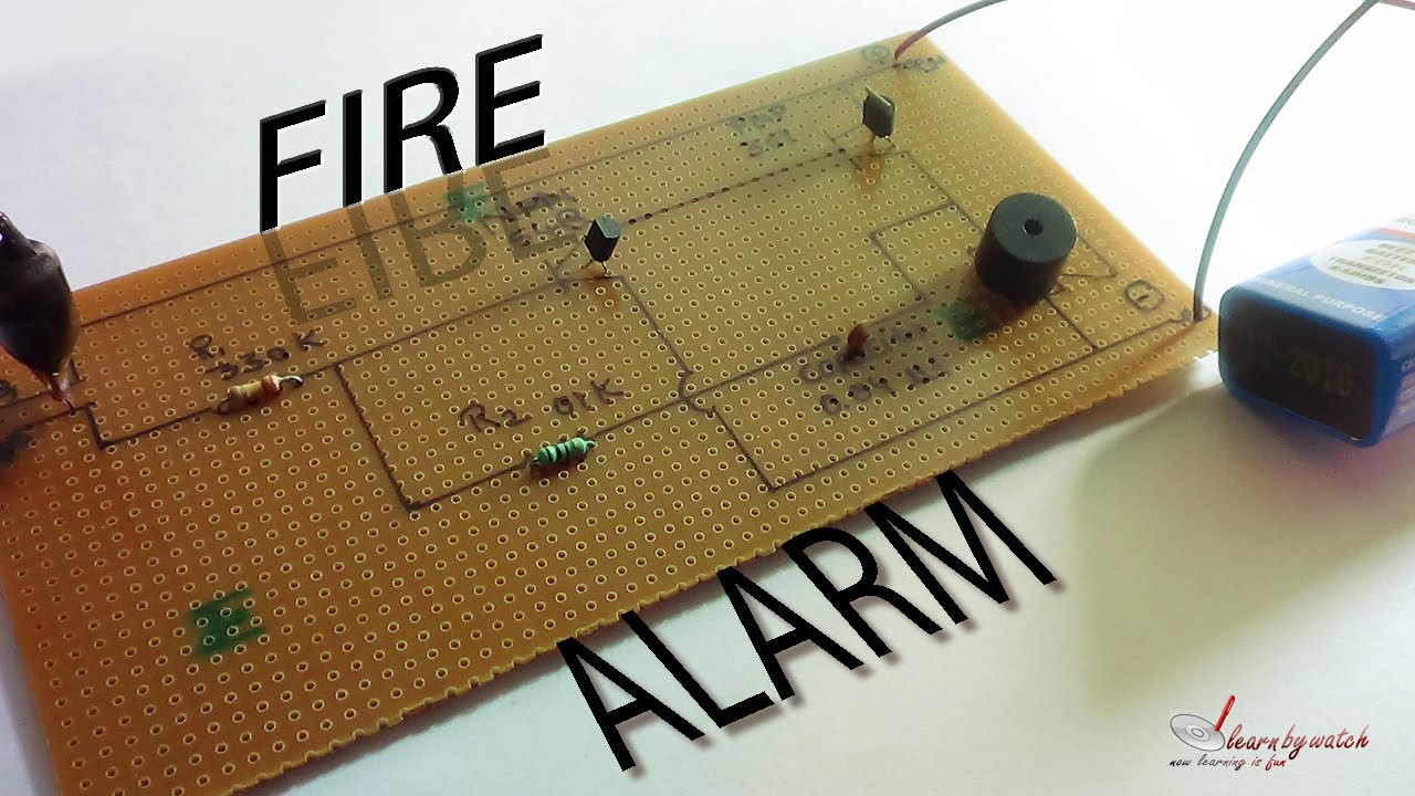 Make A Fire Alarm At Home Science Project Hindi Urdu Youtube Money Concept Circuit Board With State Bank