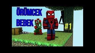 Küçücük Bir Adamız Var Örümcek Bebek Minecraftta Skyblock Oynuyor 1 Çizgi Film Tadında