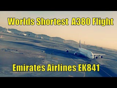 Worlds Shortest A380 Flight - Emirates Airlines EK841(Dubai to Doha) - Landing in Heavy Fog