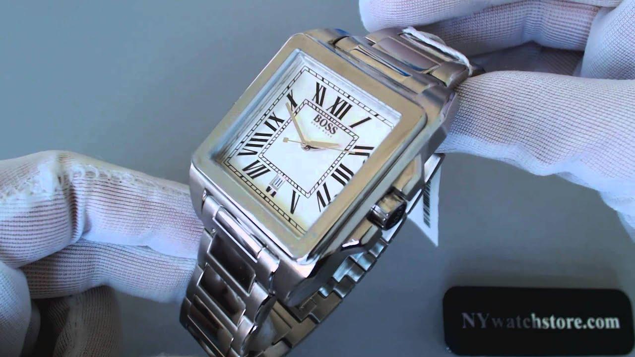 Men S Hugo Boss Square Stainless Steel Watch 1512799 Youtube