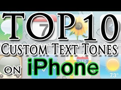 Custom iPhone Text Tones + Download my Top 10 Text Tones!