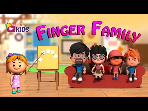 Finger Family Song (Daddy Finger) with Lyrics | LIV Kids Nursery Rhymes and Songs | HD