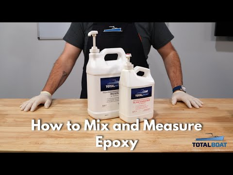 How to Mix and Measure Epoxy