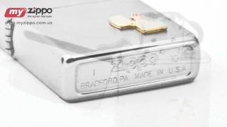 Зажигалка Zippo Lighter Emblem Brushed Chrome 300.003