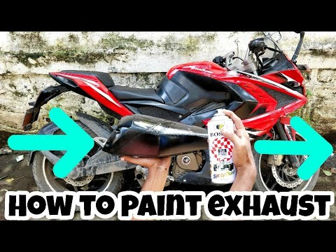 How to paint your exhaust | Pulsar Rs 200