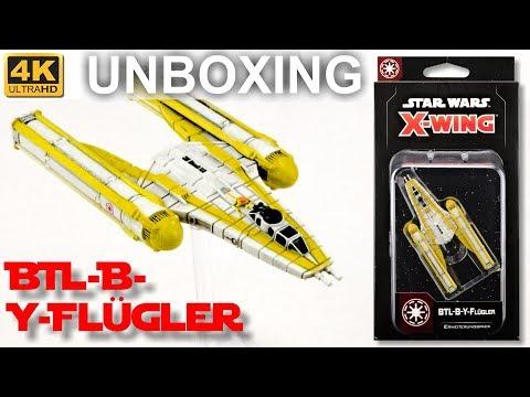 Star Wars X-Wing 2. Edition: BTL-B-Y-Flügler - WELLE 5 - Unboxing - BTL-B Y-Wing (4K)