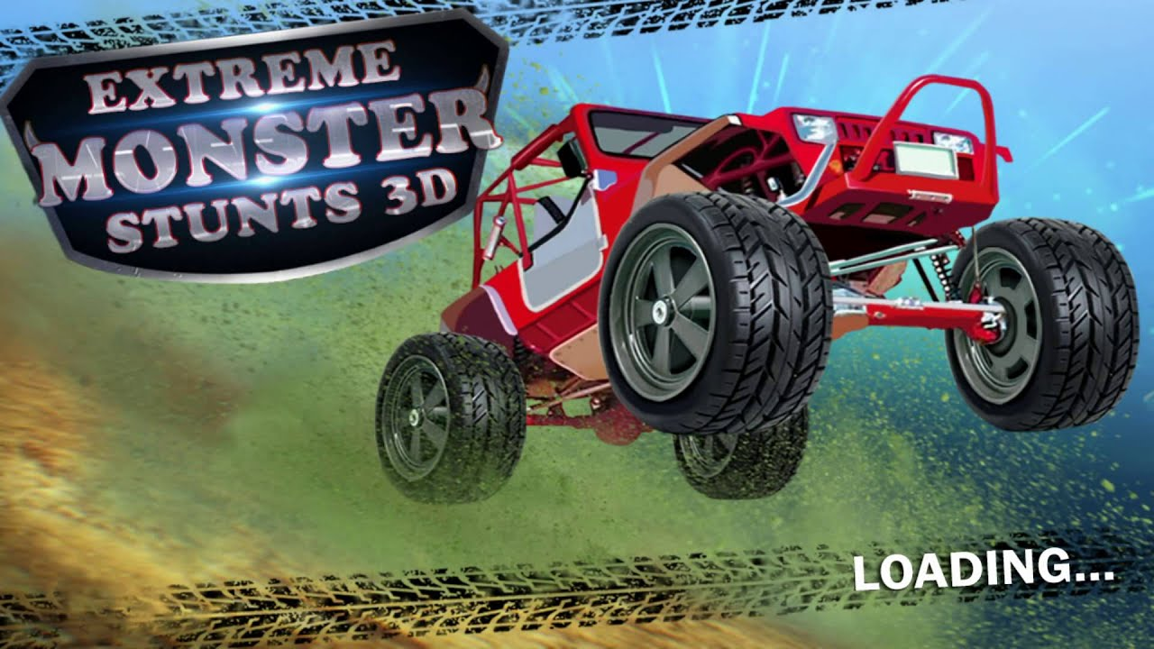 3D monster Stunt racing game for iPhone