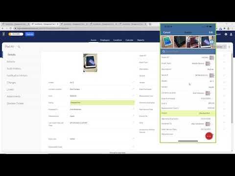 Asset Panda Web and Mobile Demo