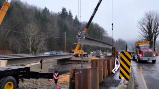 Sr 6 Rock Creek Bridge Girder Delivery
