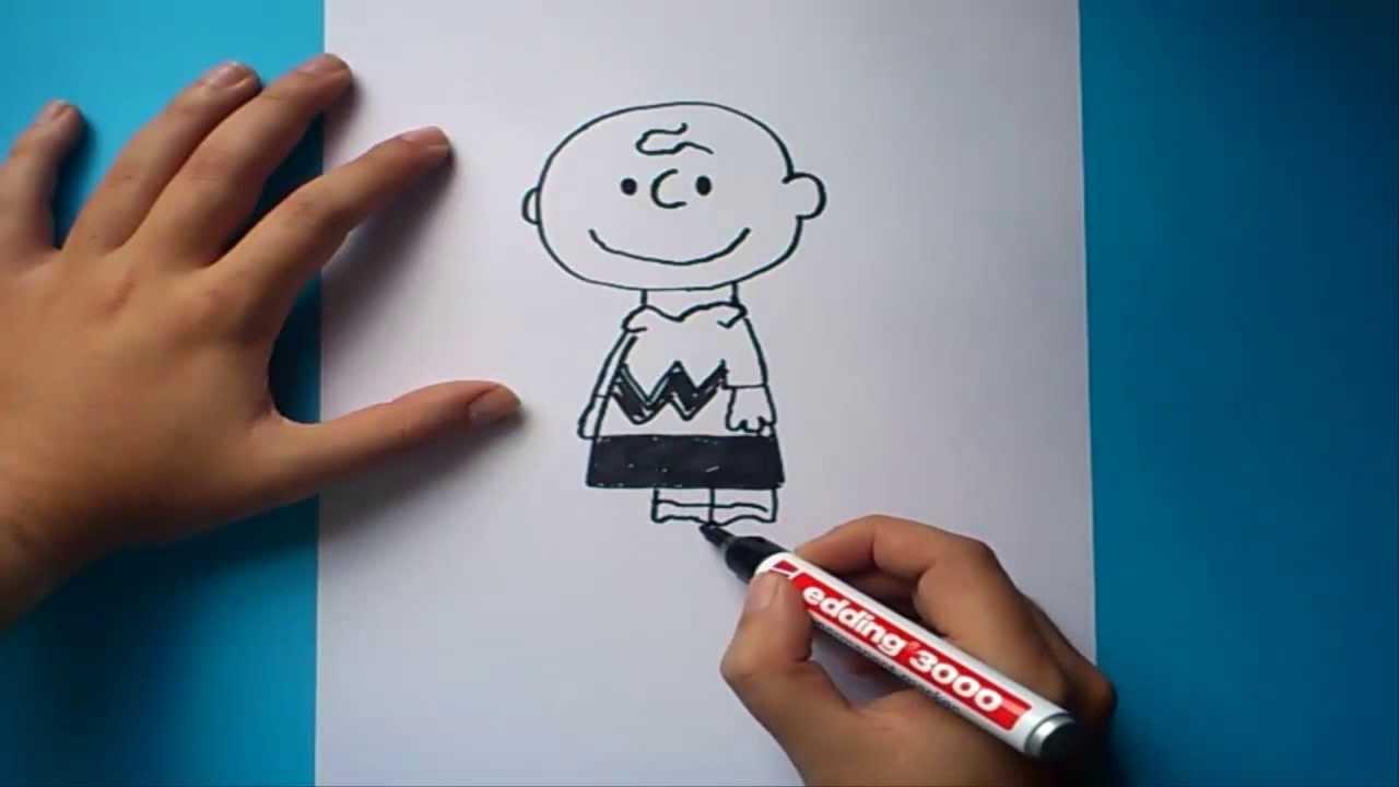 Como dibujar a Charlie Brown paso a paso | How to draw Charlie Brown ...