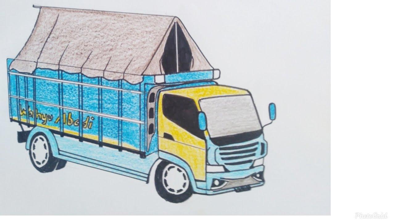 Cara Menggambar Truk Sangat Mudah Untuk Pemula Mobil Truk New Wahyu Abadi Tutorial Indonesia Youtube