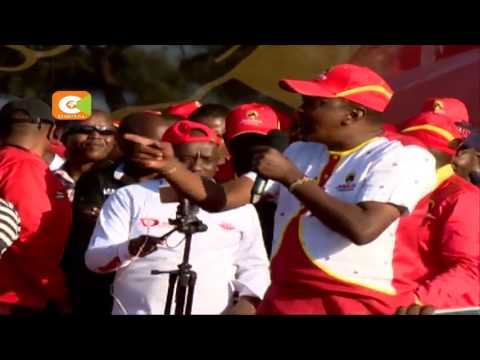 Kenyatta, Ruto at Afraha stadium final rally