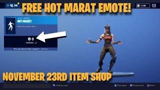 Fortnite Item Shop NEW *FREE* HOT MARAT EMOTE! [November 23rd, 2018] Fortnite Battle Royale