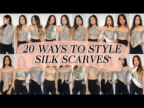 HOW TO WEAR & STYLE: 20 Ways to Style a Silk Scarf | Victoria Hui - YouTube