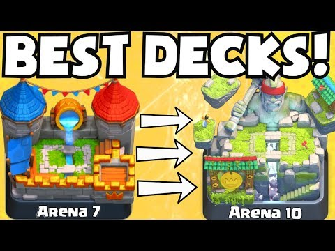 Clash Royale BEST ARENA 7 ARENA 10 DECKS UNDEFEATED BEST ATTACK STRATEGY TIPS F2P PLAYERS