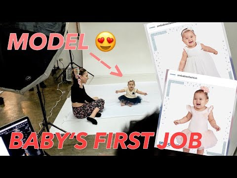 OUR BABY'S FIRST MODELING JOB | Christiana Collings