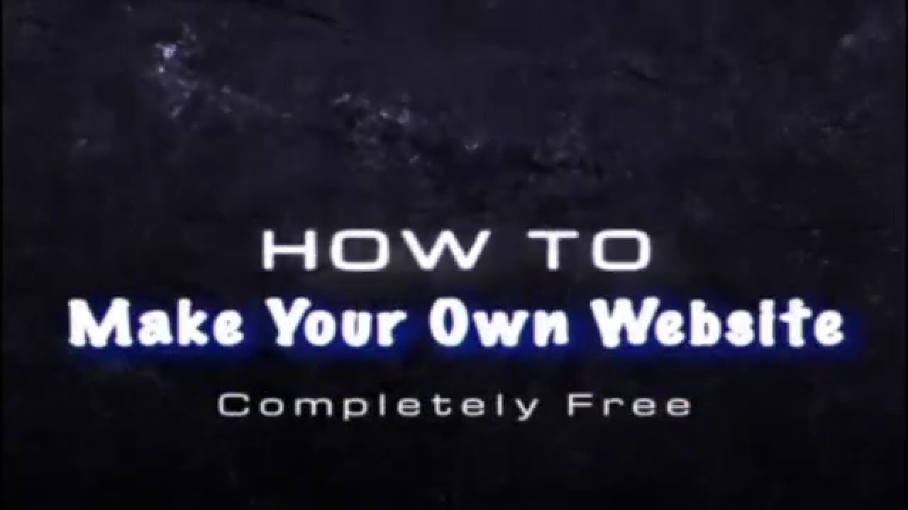 how to make a completely free website